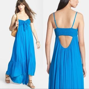 {Free People} Totally Tubular Cutout Hi Low Maxi